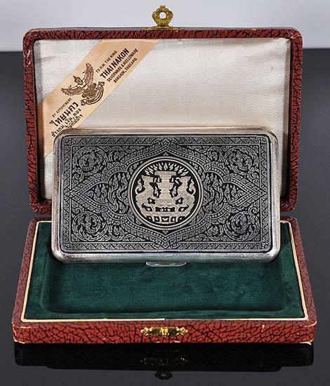 Cigarette Case Thai Nakon, silver