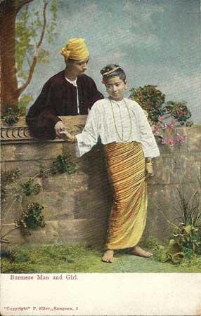 Burmese Man and Girl
